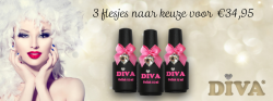 Diva Gellak 3 flesjes 15 ml naar keuze funkynails
