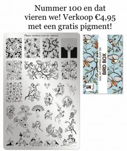 Moyra Stamping Plate 100 Bird Box funkynails
