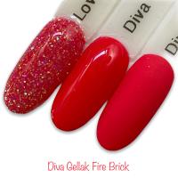 Diva Gellak Fire Brick funky nails