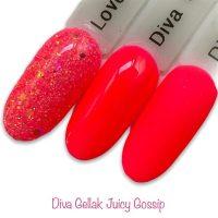 Diva Gellak Juicy Gossip funky nails
