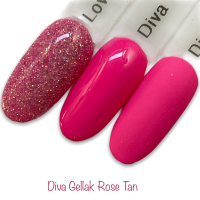 Diva Gellak Rose Tan funky nails