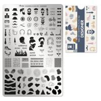 Moyra Stamping Plate 103 Designer gratis Hologram Glitter funkynails
