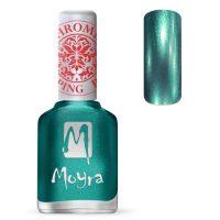 Moyra Stamping Nail Polish Chrome Green 12ml sp27 funkynails