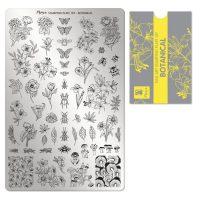 Moyra Stamping Plate 107 Botanical met gratis pigment funkynails