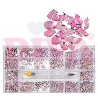 Diva Crystal Box Exclusive shapes Pink met Tool